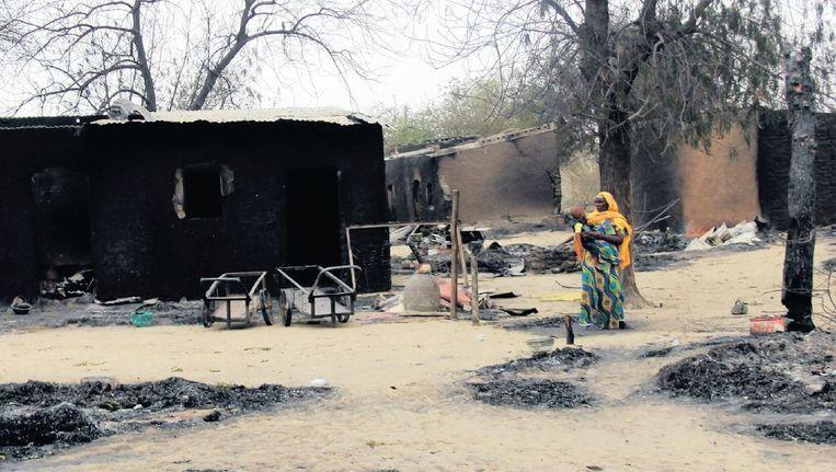 Beeld uit april 2013 uit Baga, een plek in Nigeria waar het gewelddadige Boko Haram huishield. Beeld afp