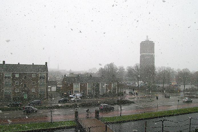 Lichte sneeuw in Helmond