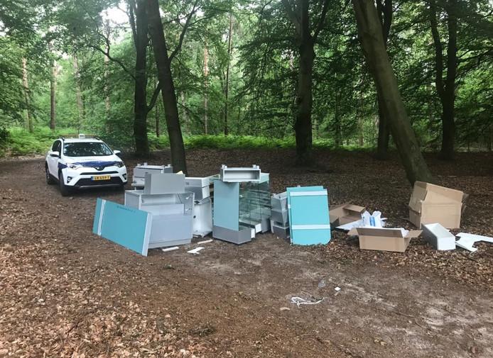 De dumping in het bos