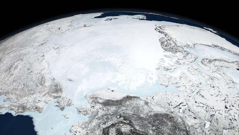 De Noordpool en permanent bevroren delen van Groenland, Canada en Rusland. Beeld Thinkstock