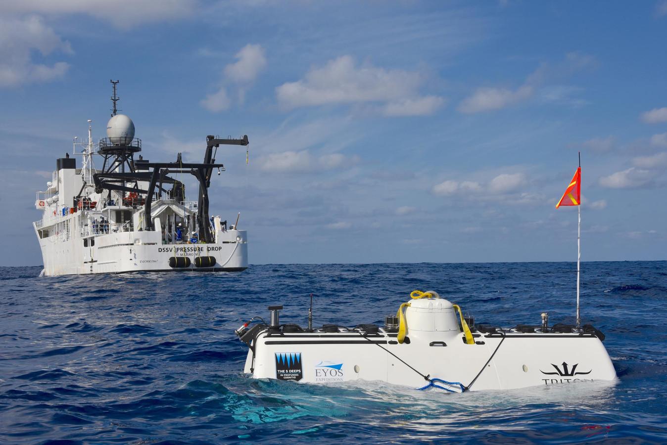De duikboot waarmee Vescovo afdaalt naar de diepste plekjes in de vijf oceanen.