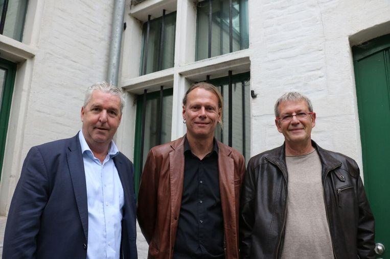 Burgemeester Jan Spooren, Ibo Nuyttens en Dirk Tiet Lefebure van Young Art Tervuren.