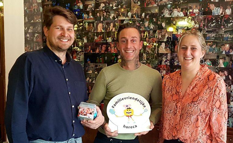 Toon De Backer, Nicolas Van Cauteren en Katrien Beulens.