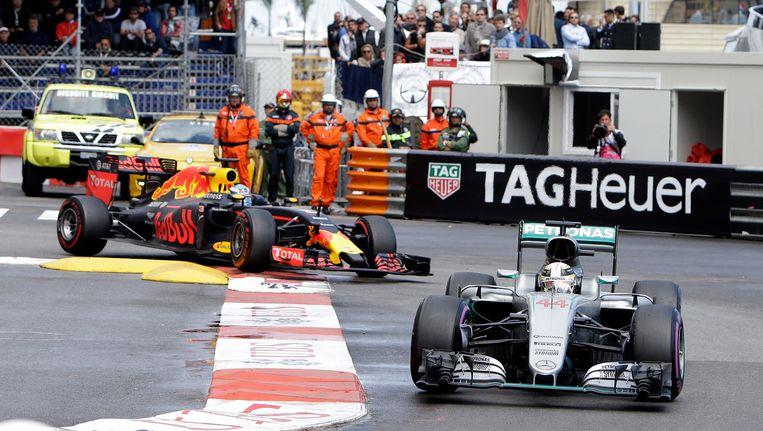 Max Verstappen viel halverwege de race uit. Beeld ap