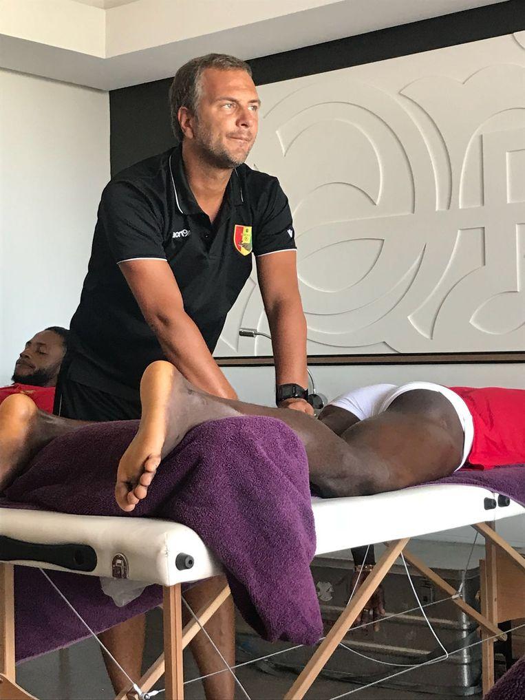 Kristof Fumière, hier aan de slag bij de nationale ploeg van Guinee.