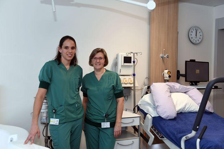 Professor dr. Jute Richter en hoofdverpleegster Bernadette Bijnens.