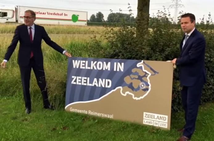 Het bord met 'Welkom in Zeeland'