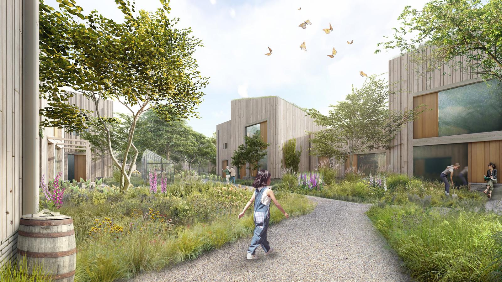 Buurtschap Waldschap, een ontwerp van LPM Development voor 48 woningen in de wijk Bosrijk in Meerhoven.