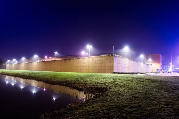 Geen lichtshow binnen tijdens het concert in de Zwolse gevangenis, maar buiten des te meer. Foto: ANP