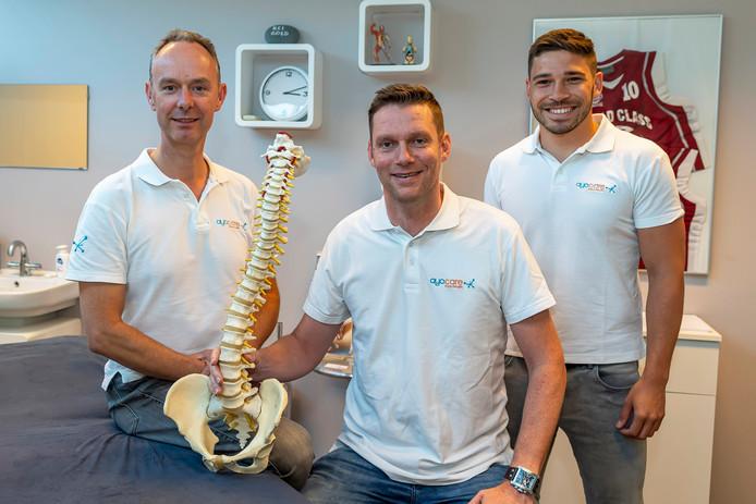 Het bedrijf ayo.care heeft een nieuwe techniek om pijn te bestrijden. v.l.n.r. : René Quintus, Tijs Nijmeijer & Tom Sanen.