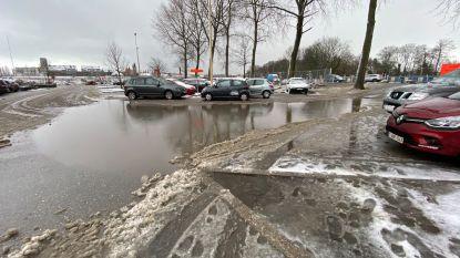 Eerste winterse neerslag zorgt her en der voor wateroverlast