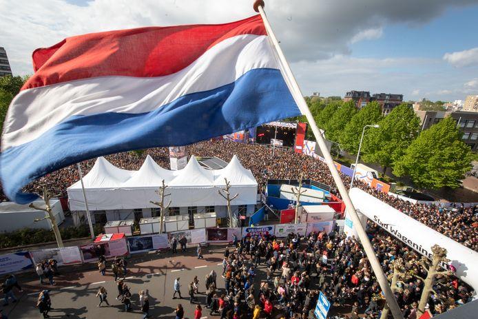 Hoofdpodium tijdens het bevrijdingsfestival in Wageningen in 2019.