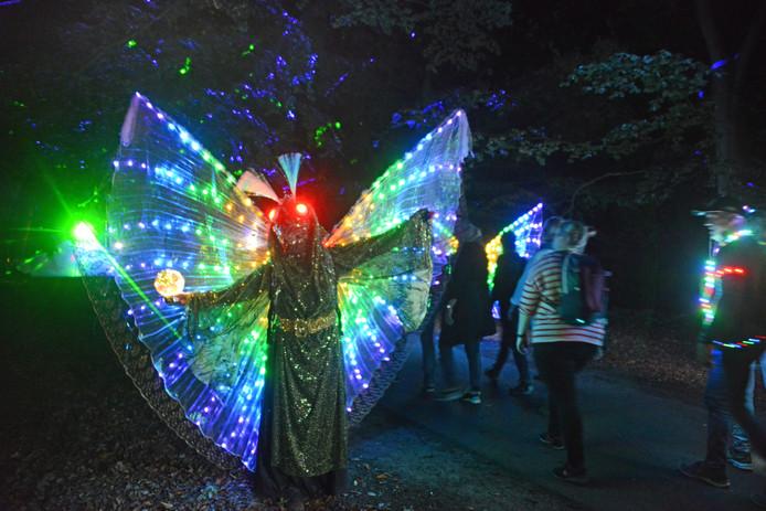 Renesse Fjoertoer 2019: veel mensen waren aangekleed met lampjes