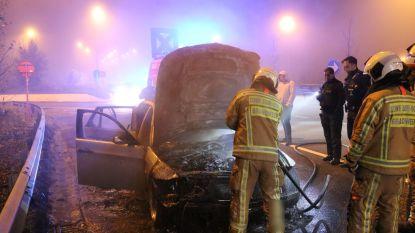 Bestuurder en inzittende kunnen auto nog net op tijd aan de kant zetten voor hij vuur vat