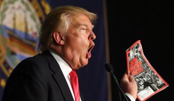 Time wil dat Trump nepvoorpagina van de muur haalt