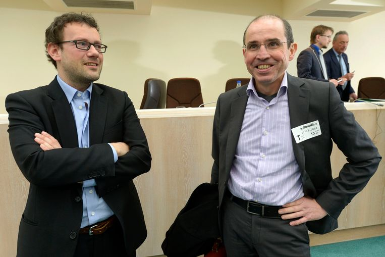 Dave Sinardet (links) en Pascal Delwit