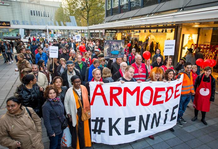 De mars tegen armoede in 2014.