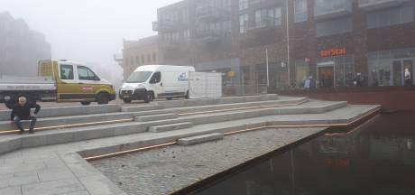 Ledverlichting siert stadstribune nieuwe havenkom in Almelo