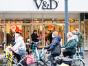 De vestiging van de failliete V&D in Alphen aan den Rijn.