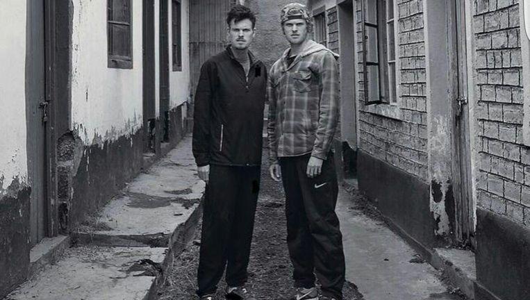 Atleten Zane (links) en Jake Robertson in Iten, Kenia. Beeld Annemieke Jansen021