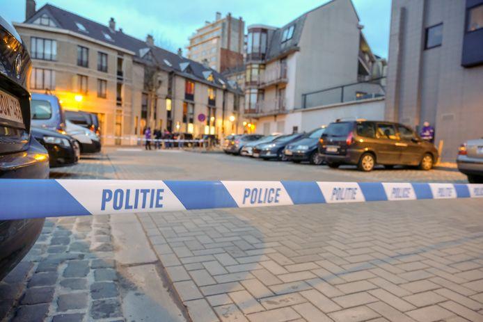 De schietpartij vond plaats op het Jacques Franckplein.