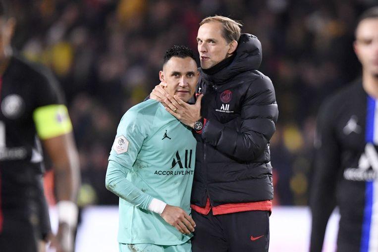 PSG-trainer Tuchel blij met Navas.
