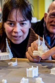 Tilburg in miniatuurvorm: Heuvelse kerk en Paleis-Raadhuis passen in de palm van de hand