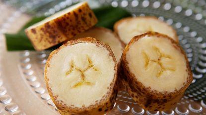 Van deze Japanse bananen mag je de schil gewoon mee opeten