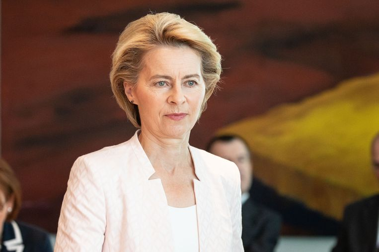 Minister van Defensier Ursula von der Leyen (CDU) wordt nieuwe leider van de Europese Commissie. Beeld Getty Images