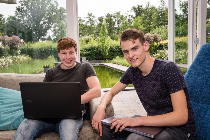 Stijn Dierink (r) en Max van Marle