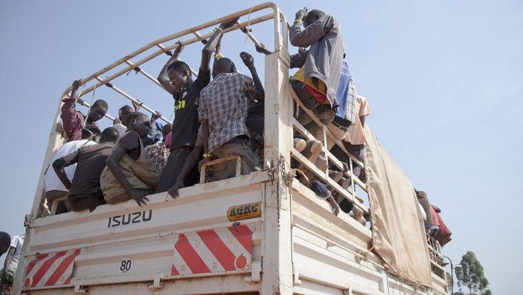Mensen op de vlucht in Zuid-Soedan. Beeld ap
