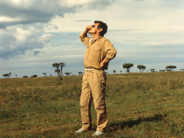 Andrei Tarkovsky op de set tijdens het filmen van The Sacrifice (1986). Beeld Bart Jansen
