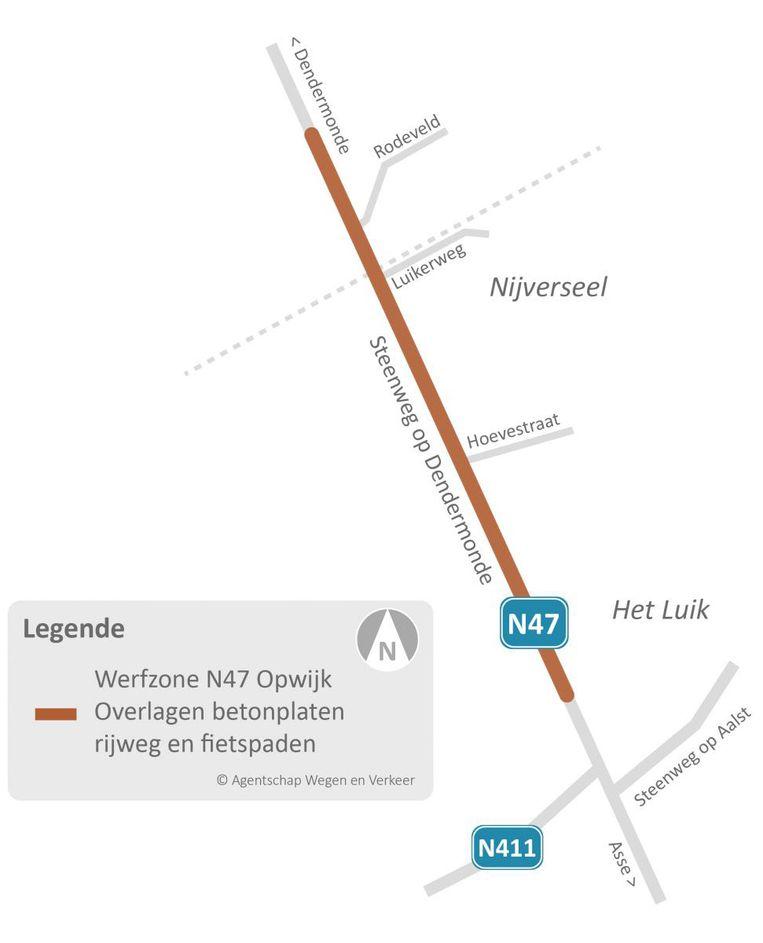 OPWIJK: Steenweg op Dendermonde