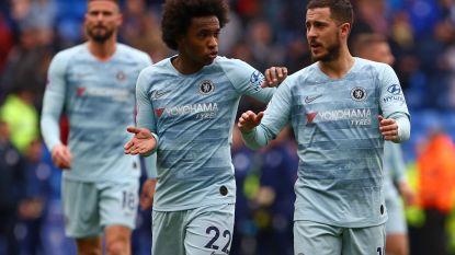 Late Chelsea-goals redden het hachje van Sarri, die Hazard lang op de bank hield