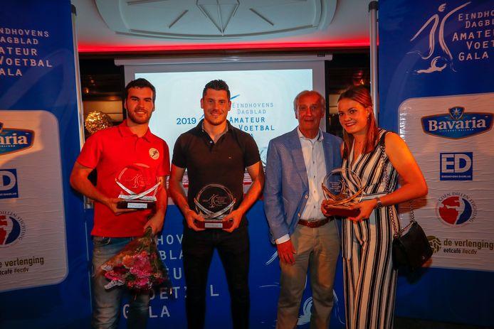 De prijswinnaars van het ED Amateurvoetbalgala in 2019.