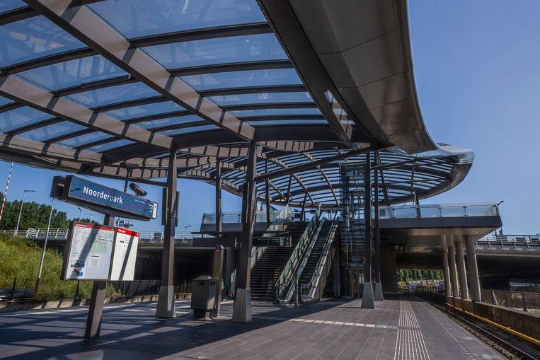 Metrostation Noorderpark. Beeld Rink Hof