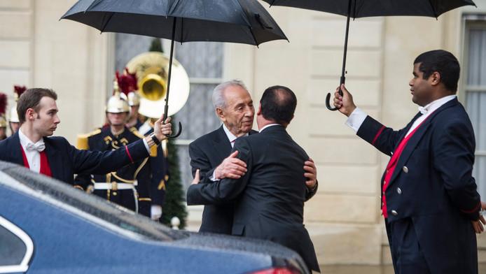 Shimon Peres, le président israélien, a rencontré le président français François Hollande au cours de sa tournée franco-belge en mars dernier.