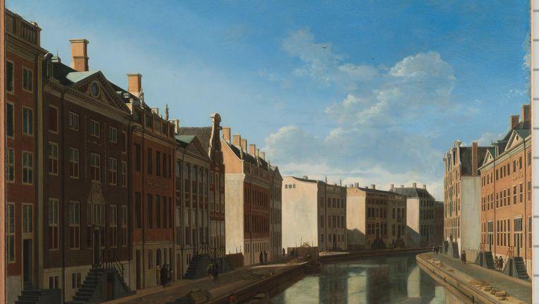 Gerrit Adriaensz. Berkheyde - Gezicht op de Gouden Bocht in de Herengracht Beeld Rijksmuseum Foto Carola van Wijk