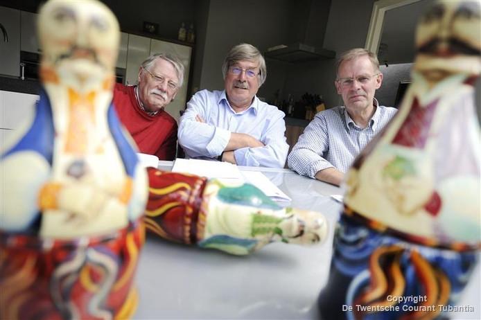 vlnr: Frans Hermans, Jan Lentelink en Rijk Wibbelink van de vereniging