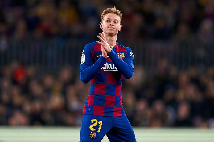 Frenkie de Jong werd afgelopen zaterdag na 64 minuten gewisseld tijdens FC Barcelona - Real Mallorca.