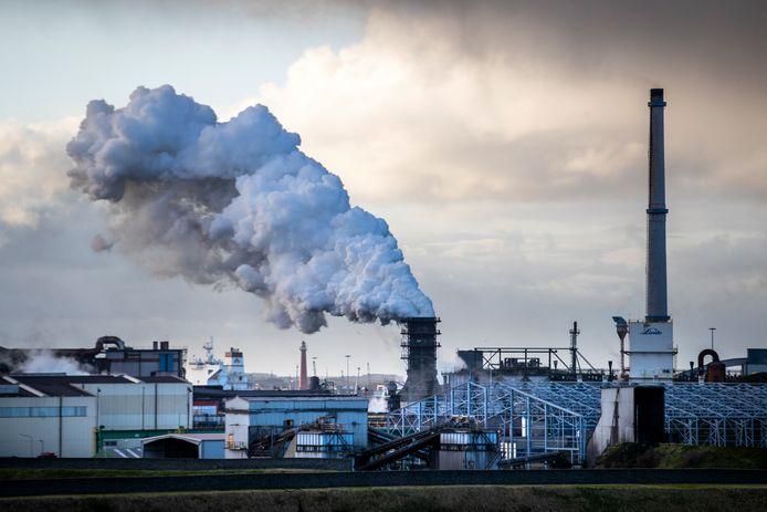 Staalconcern Tata Steel in IJmuiden.
