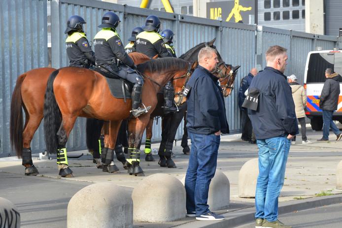 Rellen na NAC-Willem II in Breda.