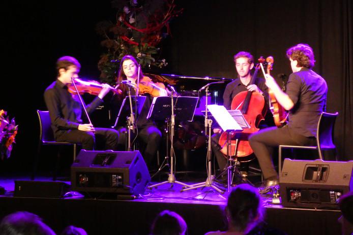 Archieffoto septembere 2018: Het Arthema String Quartet speelt in Podium Boxtel tijdens Klassiek op de Dommel.