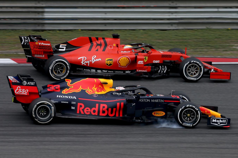 De inhaalactie van Max Verstappen op Sebastian Vettel