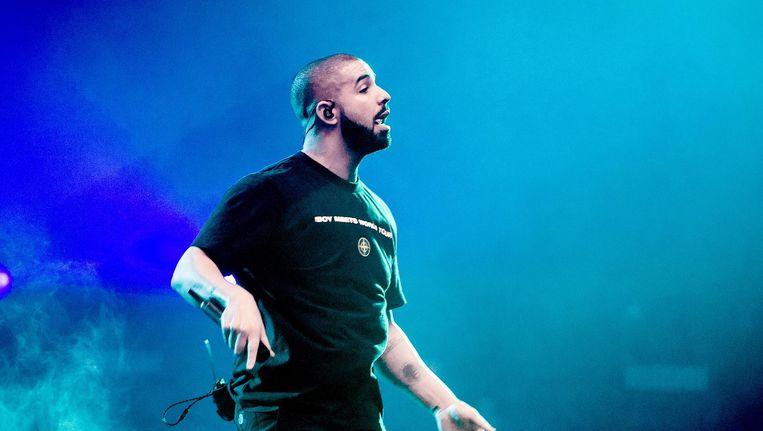 Drake tijdens zijn eerste show in de Ziggo Dome, in januari van dit jaar. Beeld anp