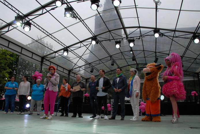 Kort na de officiële opening volgde de bekendmaking: Roze Zaterdag vindt in 2019 plaats in Venlo en het Duitse Krefeld.