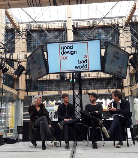 Drie ontwerpers in gesprek met elkaar over tegengaan vervuiling in People's Pavilion tijdens DDW