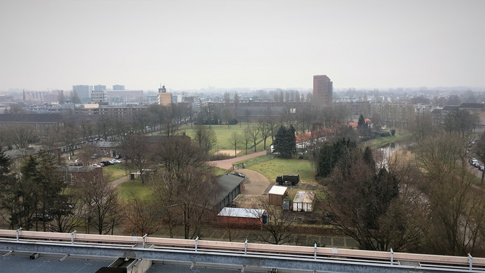 Seelig-zuid, gezien vanaf het oude Belastingkantoor aan de Gasthuisvelden.