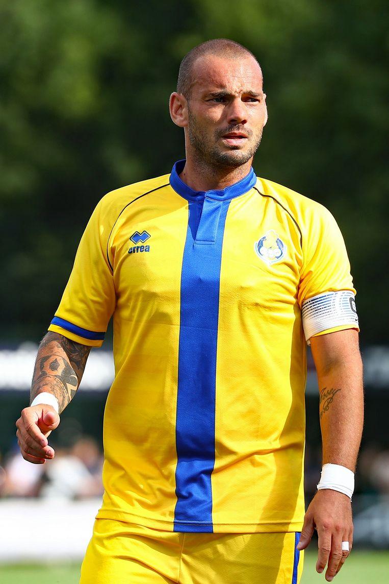 Sneijder in het shirt van Al Gharafa.