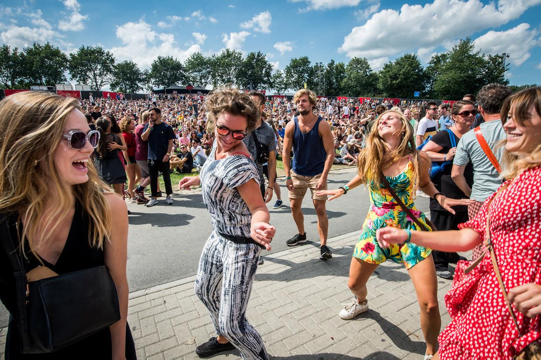Festivalgangers op Lowlands van vorig jaar. Beeld ANP